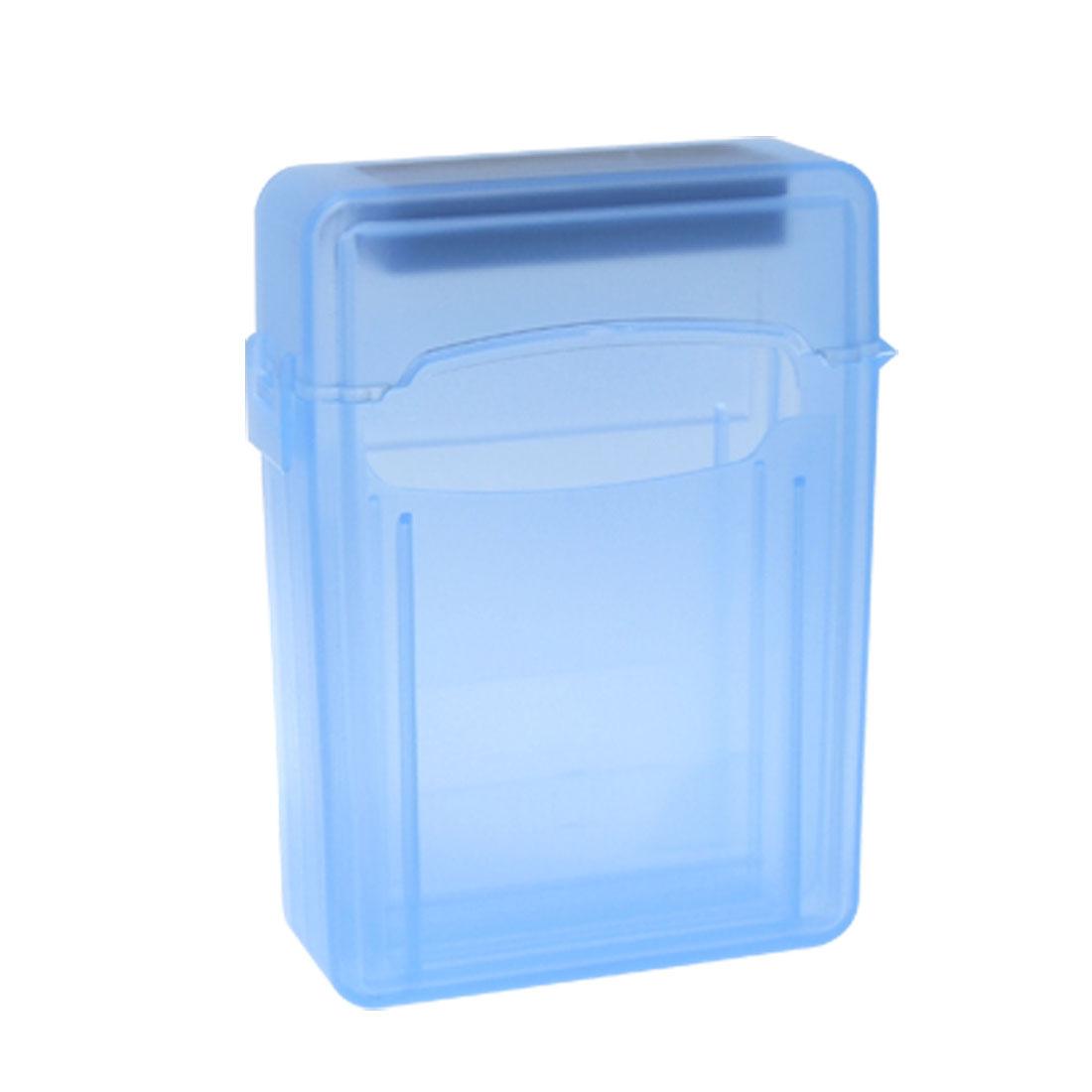 2.5 Inch IDE Hard Drive Enclosure External Case Storage Box Blue