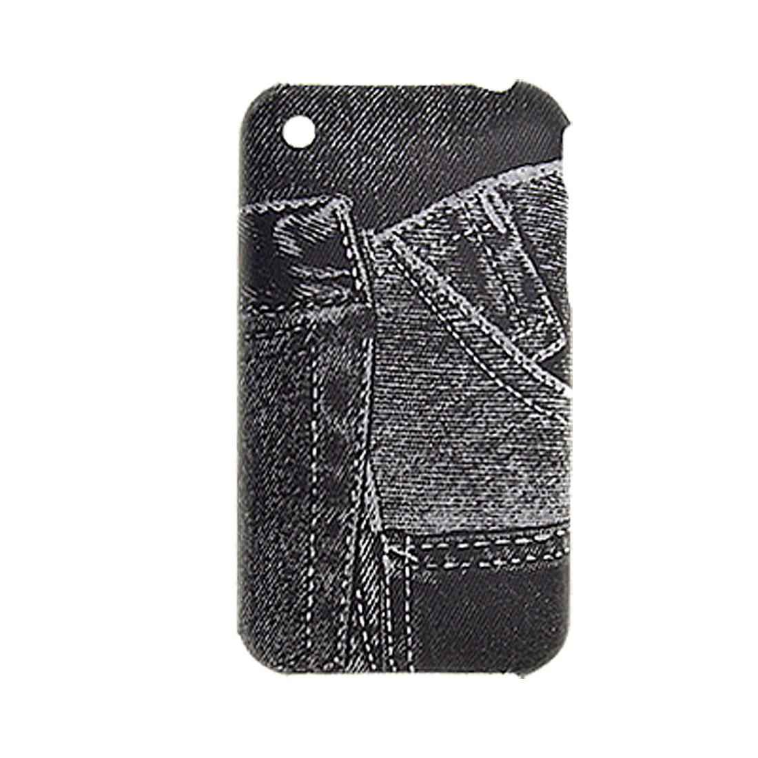Black Jeans Print Plastic Hard Back Cover Shell for iPhone 3GS