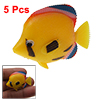 5 PCS Aquarium Tank Plastic Lifelike Yellow Floating Fish
