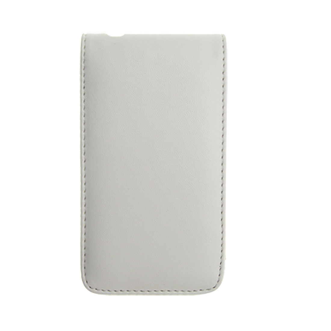 White Vertical Faux Leather Protective Pouch Case for iPhone 3G