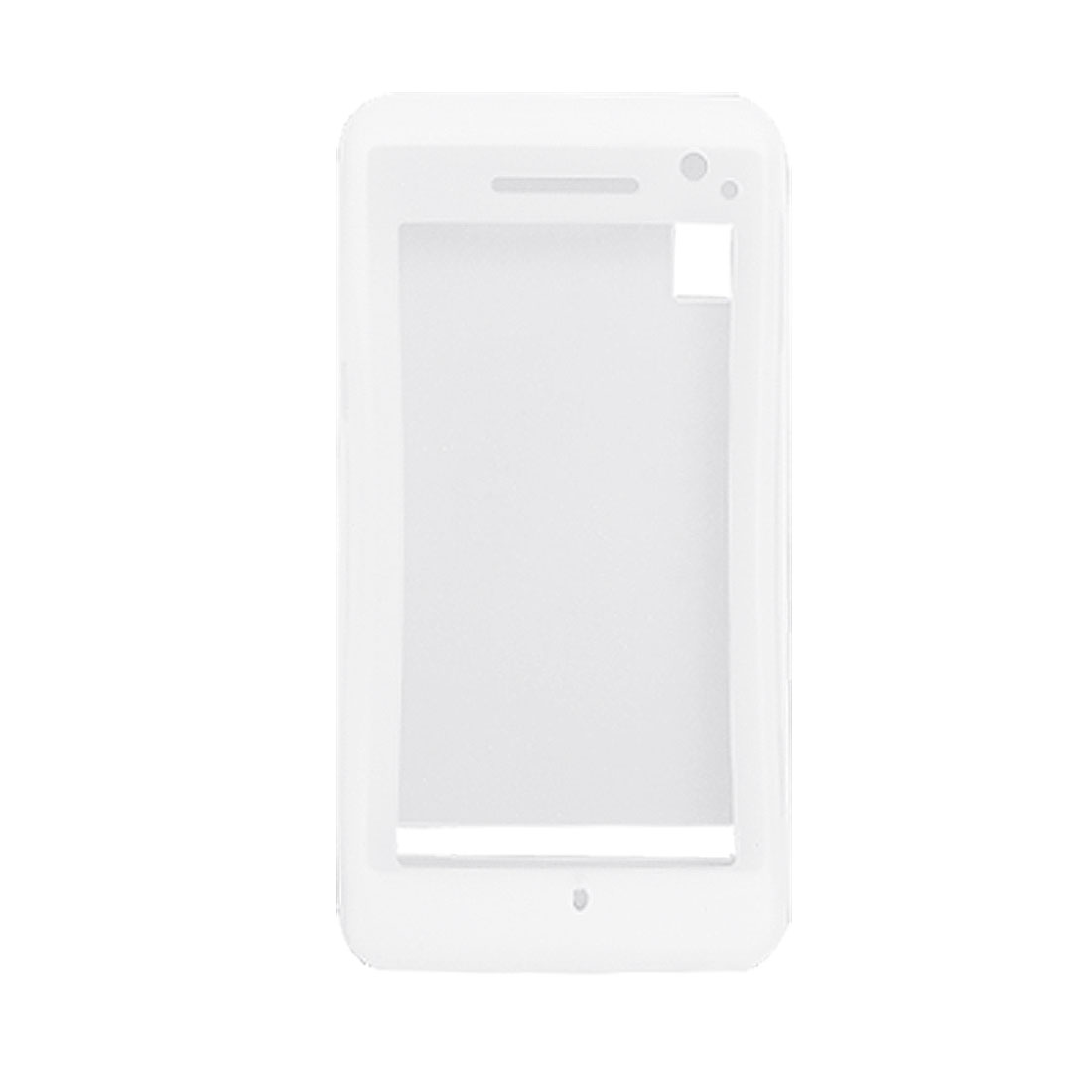 Clear White Silicone Soft Case Cover Protector for Motorola A855
