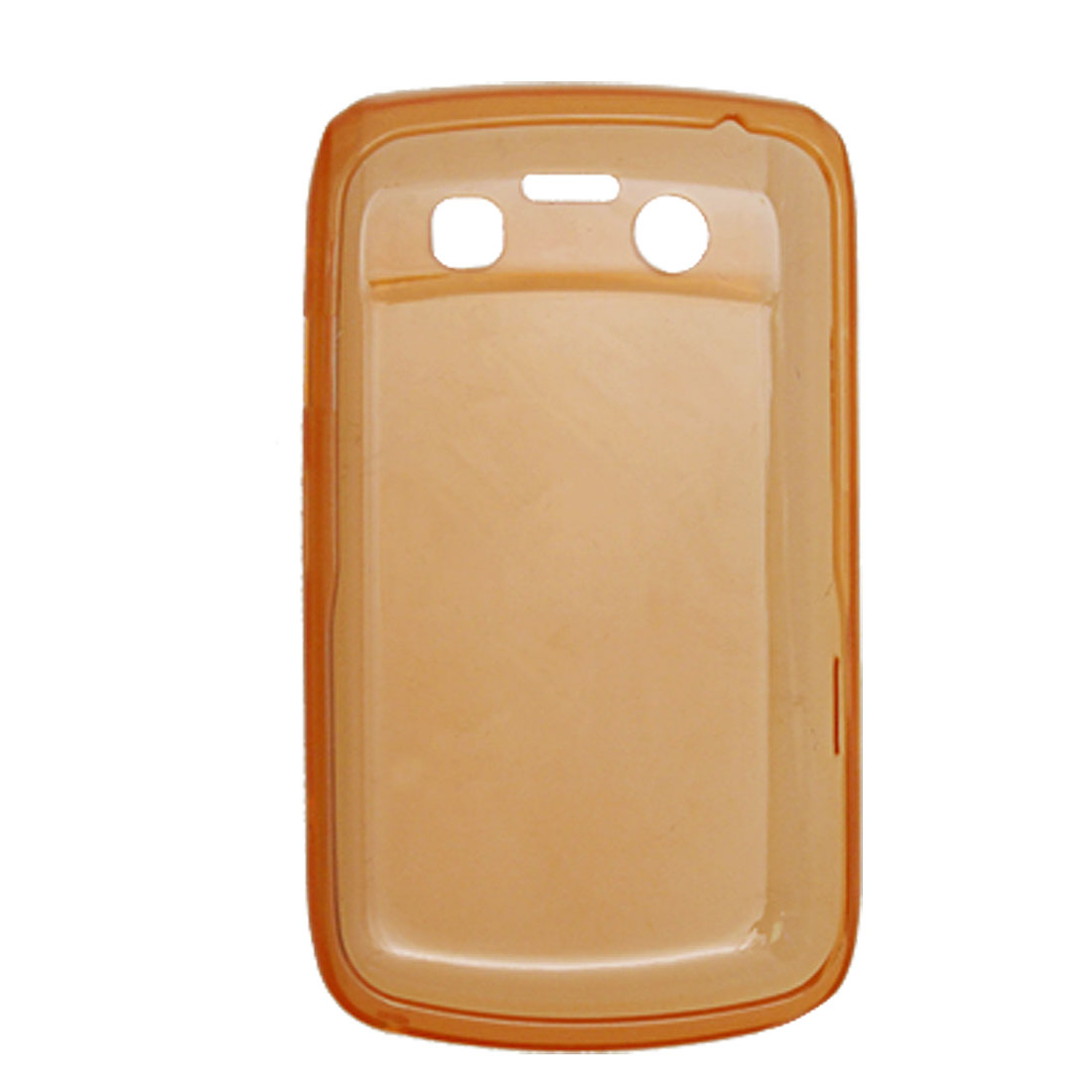 Mobile Orange Soft Plastic Shell Cover for BlackBerry 9700