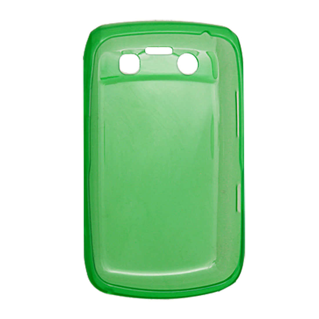 Soft Plastic Shell Green Phone Cover for BlackBerry 9700