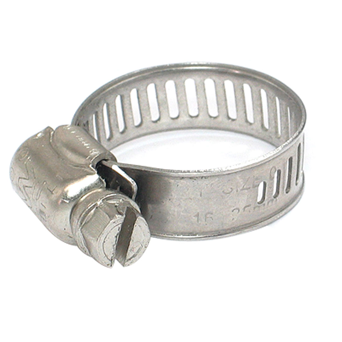 "16-25mm Hose Pipe Clamp Hoop Silver Tone 1"" Diameter 2pcs"