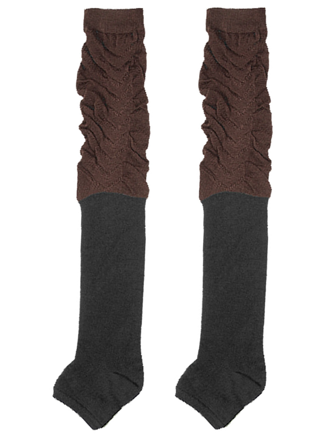 Thick Soft Black Brown Warm Flower Socks Stockings
