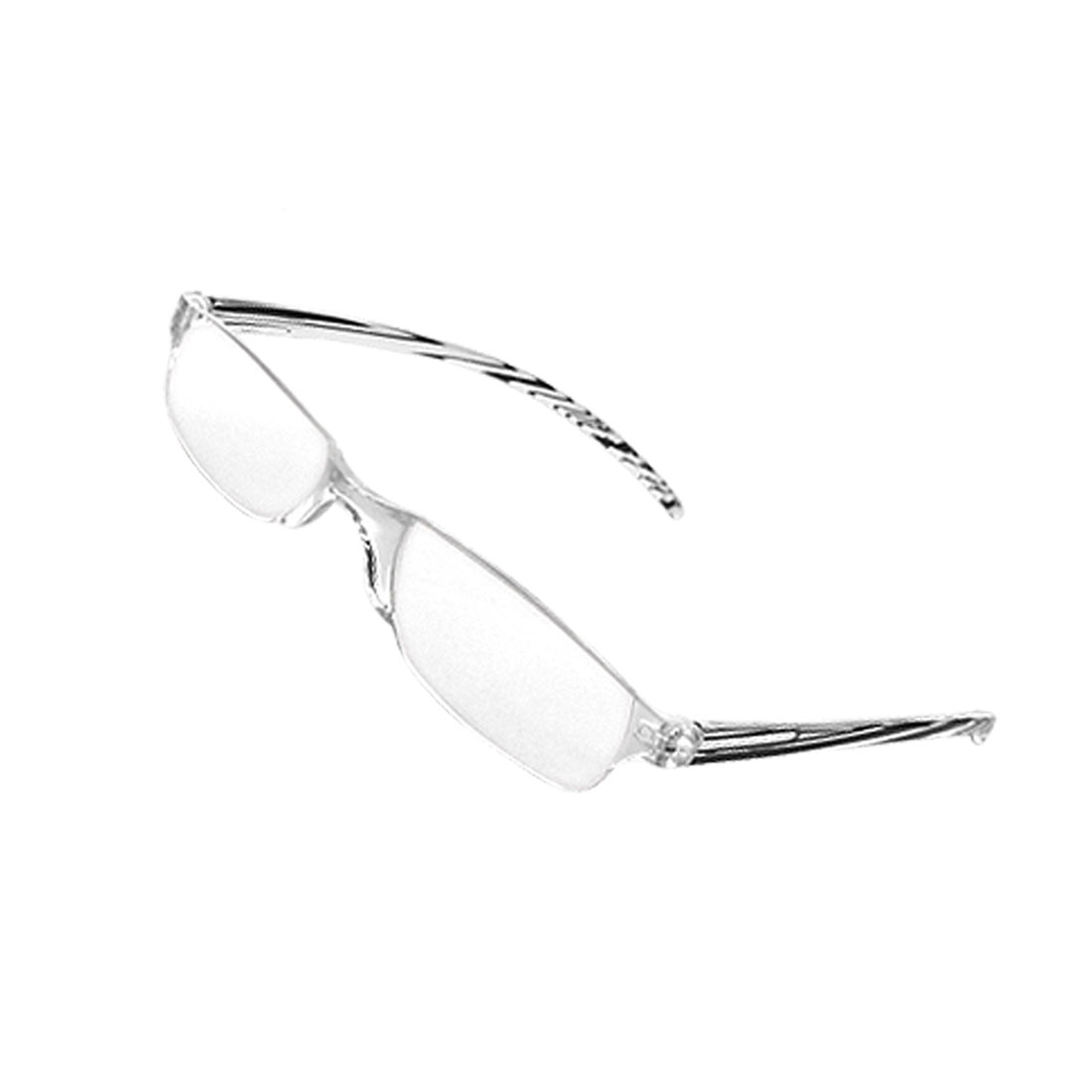 +2.75 Rimless Clear Presbyopic Reading Glasses w Case