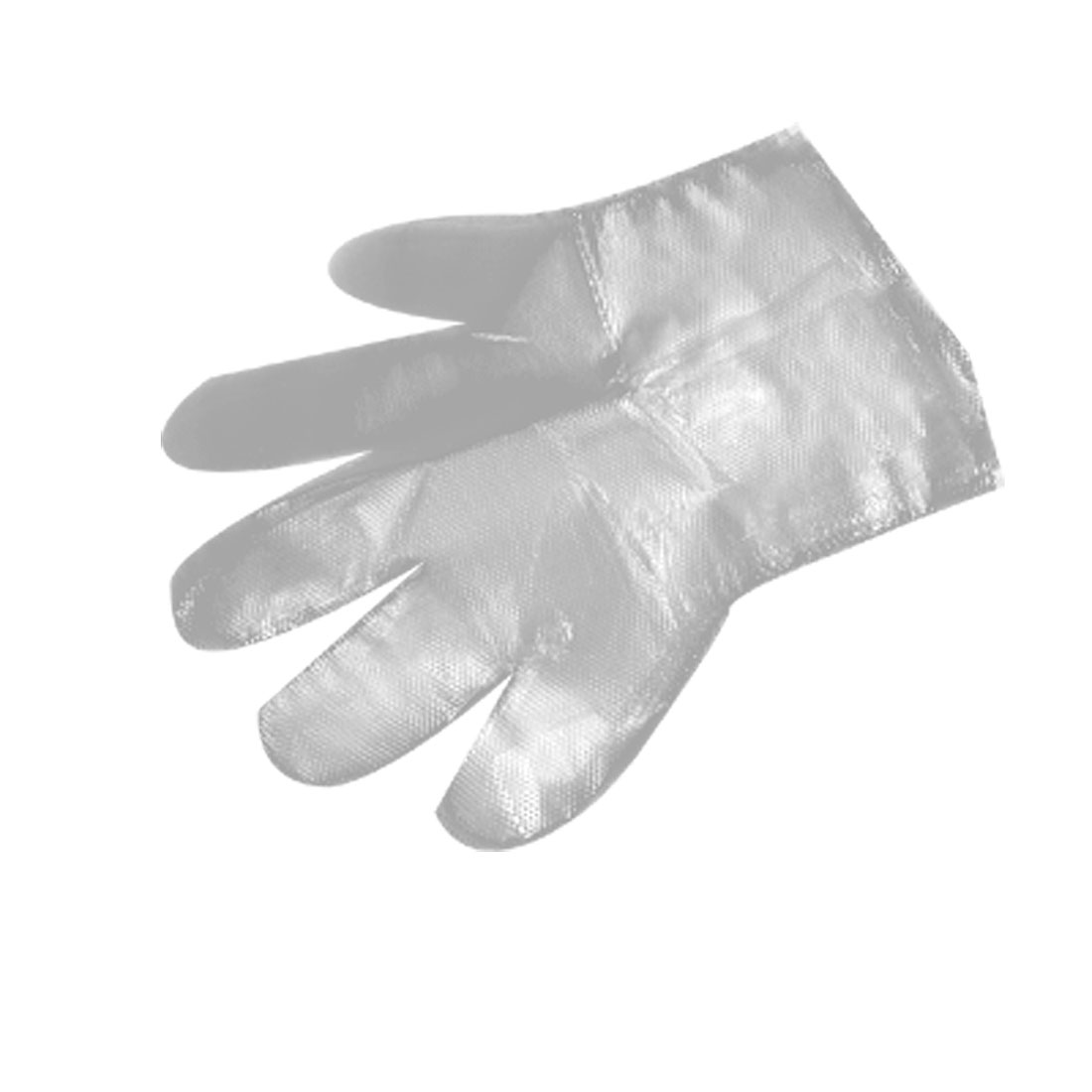 25 Pairs Food Service Clear Plastic Disposable Gloves