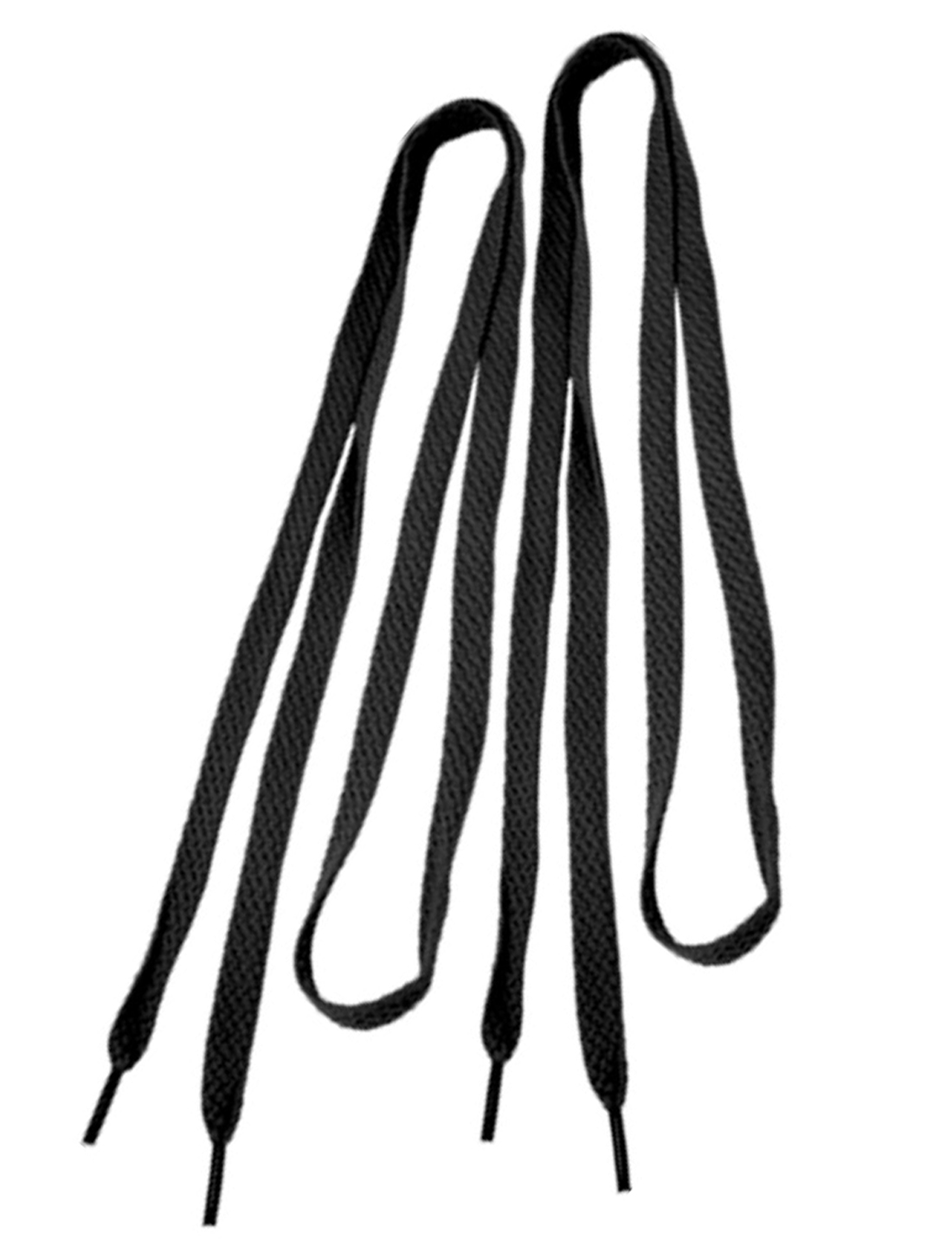 "46"" Long Black Flat Shoelaces Gym Shoes String 1 Pair"