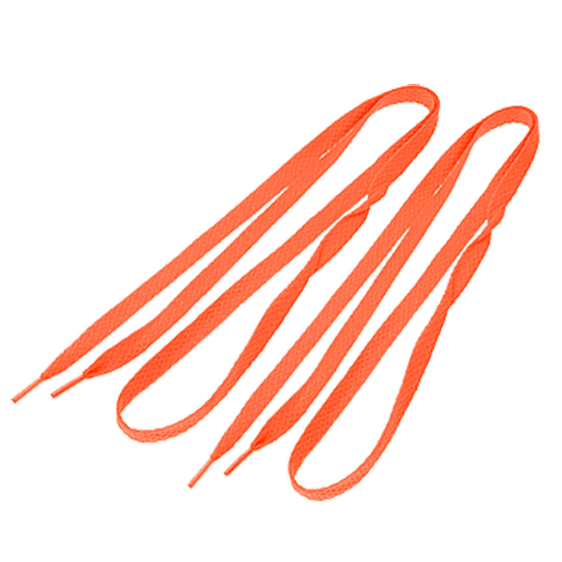 Pair Orange Flat String Latchets for Gym Shoes Sneakers