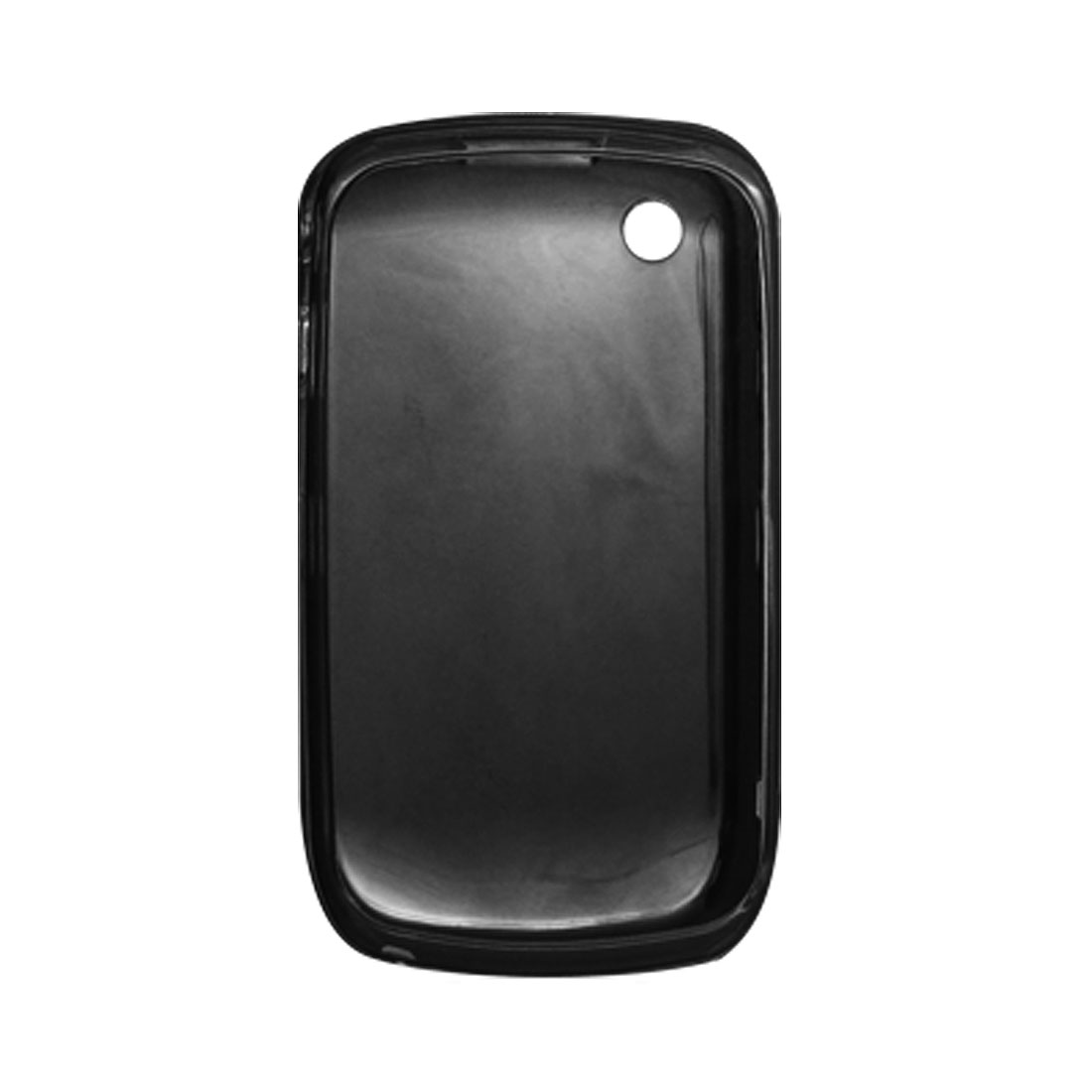 Black Soft Plastic Cover Case Phone Shell for Blackberry 8520