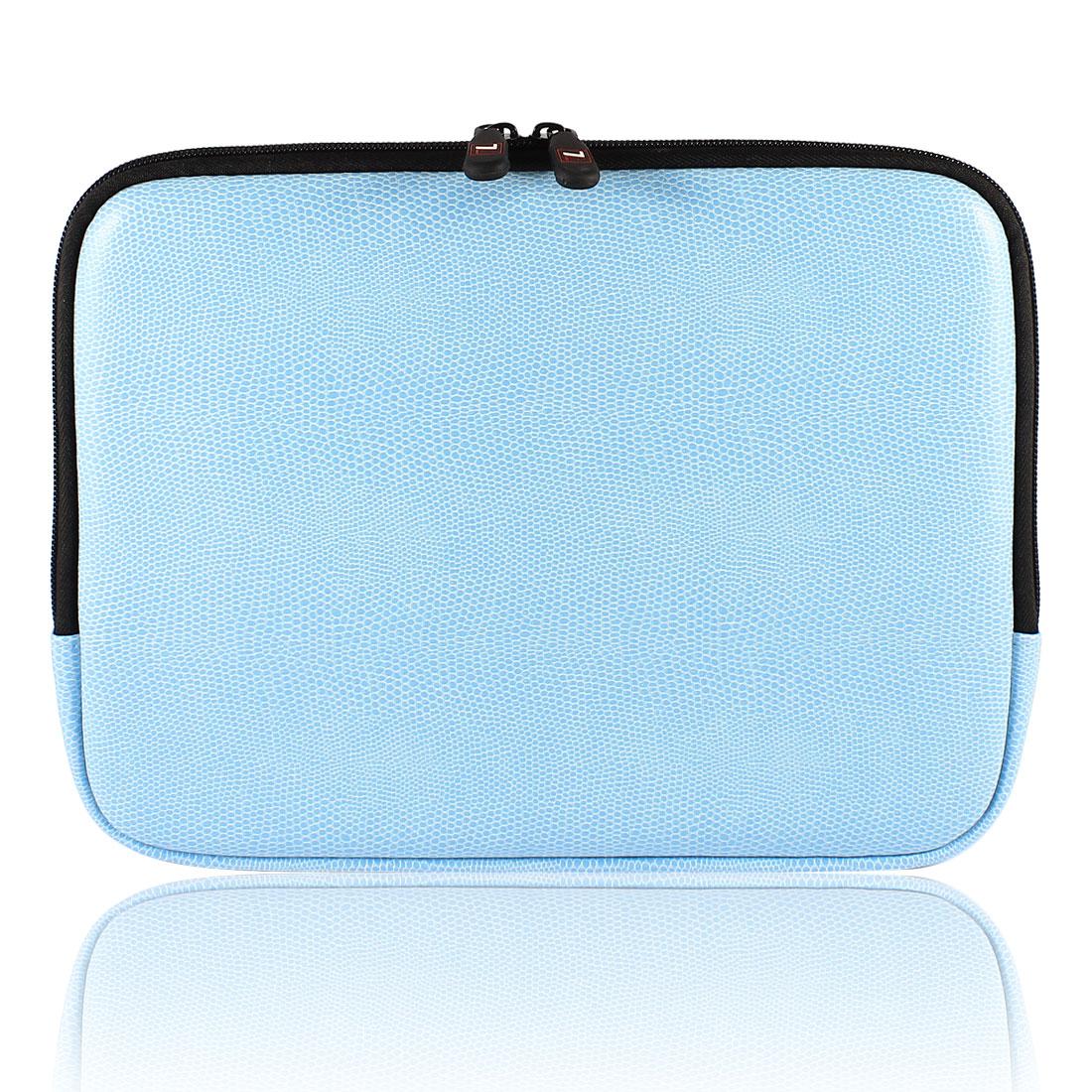 """10"""" 10.1"""" 10.2"""" Blue Snake Pattern Laptop Sleeve Bag Case Zipper for Laptops"""