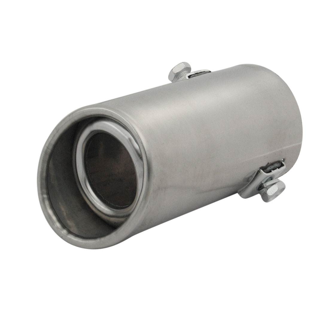 Universal Car Auto Stainless Steel Muffler Silencer Silver Tone