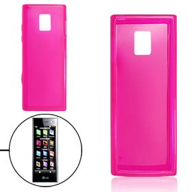 Rose Pink Plastic Cover Soft Shell Protector for LG BL40