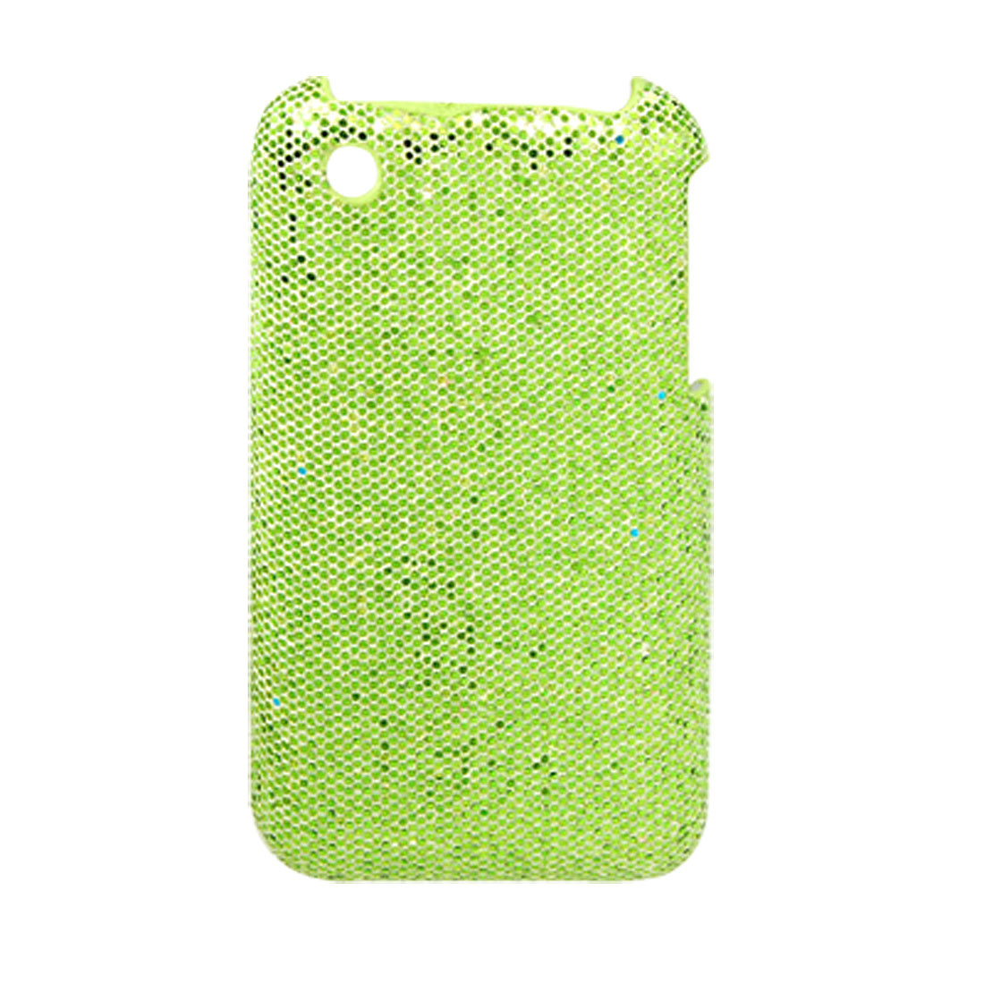 Yellowgreen Plastic Glittery Back Case Cover for iPhone 3G