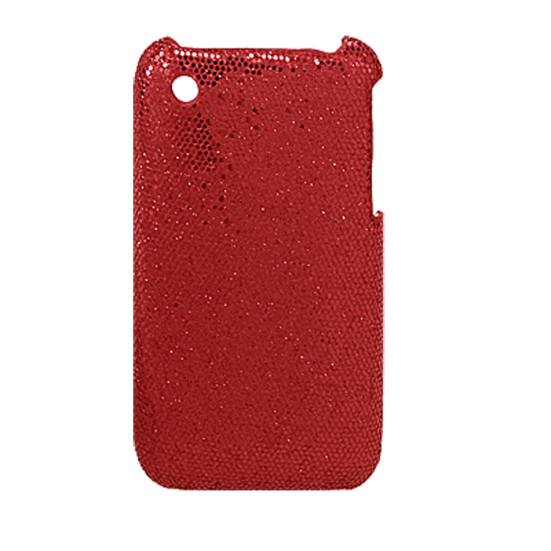 Hard Plastic Glittery Back Case Cover for iPhone 3G Red