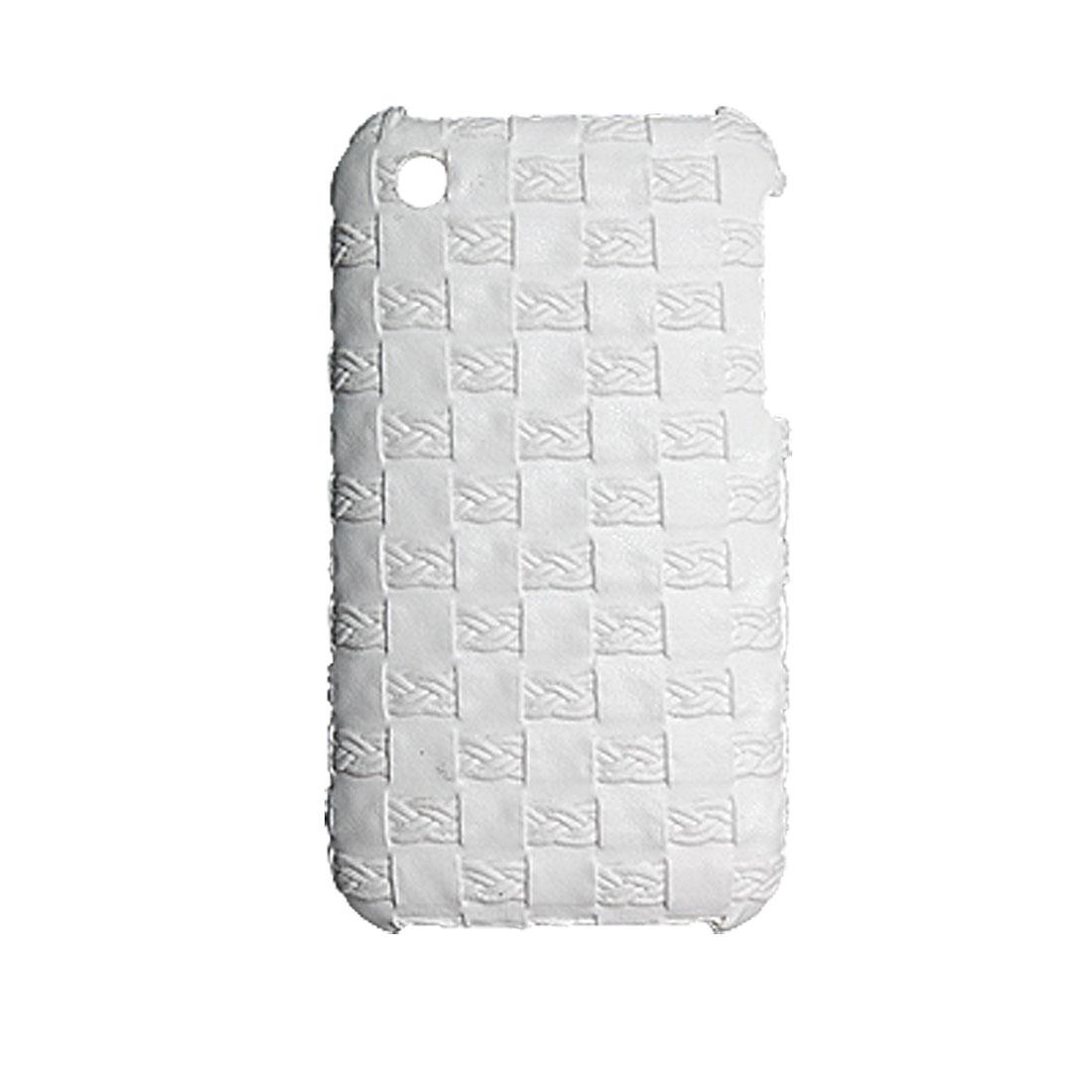 Plastic White Lattice Back Cover Case for iPhone 3G