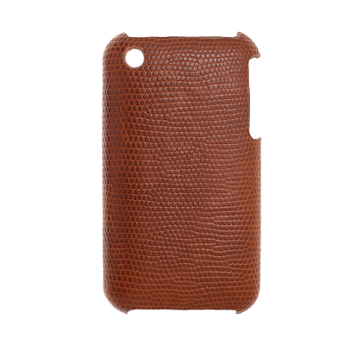 Brown Textured Plastic Back Case Cover for iPhone 3G