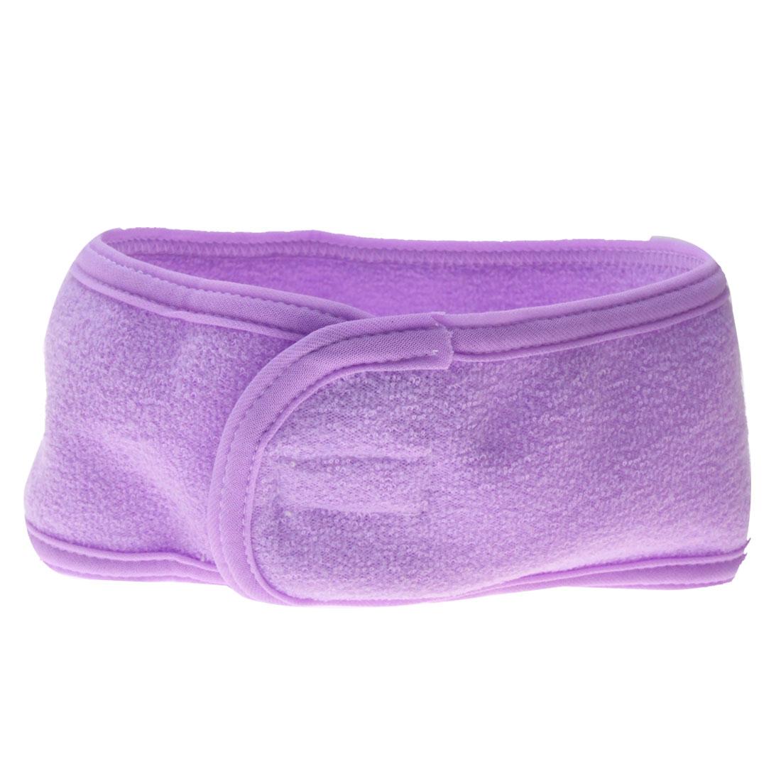 Women Purple Elastic Cotton Makeup Bath Beauty Headband