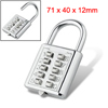 5 Digit Luggage Metal Combination Padlock Backpack Lock