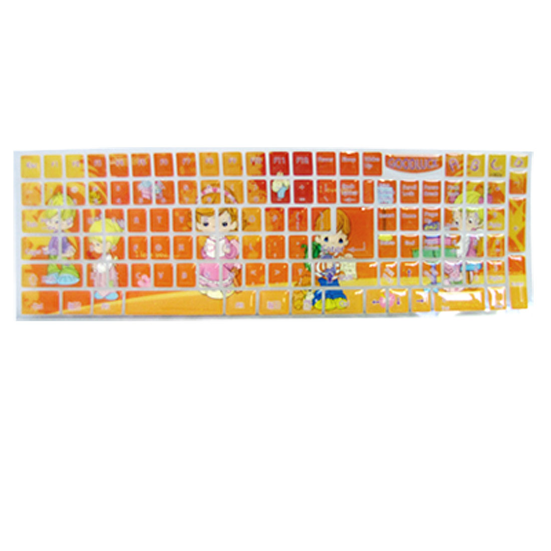 Keyboard Orange Cute Pattern Resin Stickers for Laptop PC