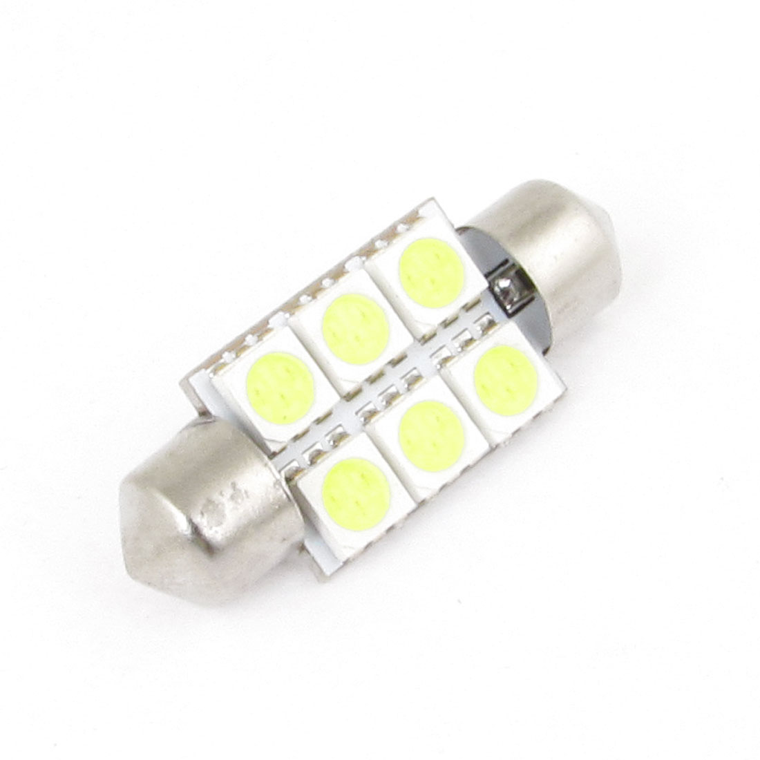 Car White 35mm 6 5050 SMD Festoon LED Light Dome Lamp Bulb DC 12V