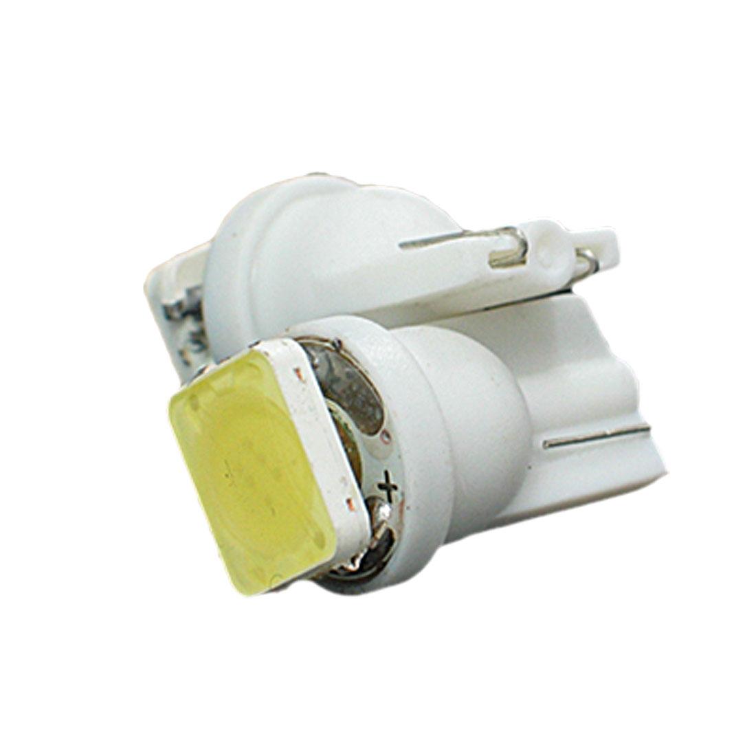 2 Pcs T10 194 168 W5W Wedge White 1 SMD LED Brake Rear Lamp Turn Light for Car Auto
