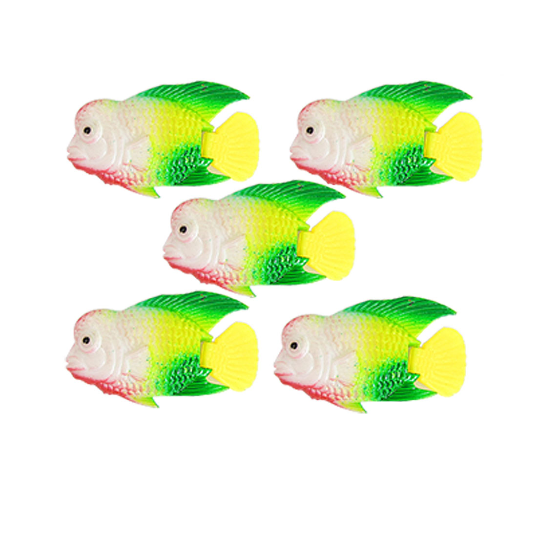 Floating Plastic Fish Decor 5pcs for Aquarium Tank