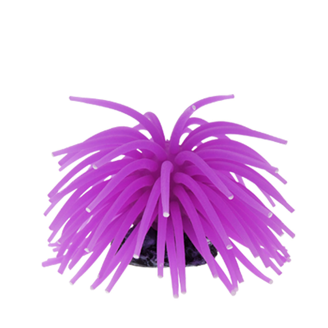 Purple Aquarium Fish Tank Silicone Coral Ornament Decoration