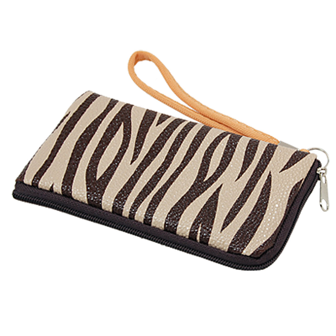 Hand Strap Carrying Zebra Stripe Purse Pouch Bag for Smartphone
