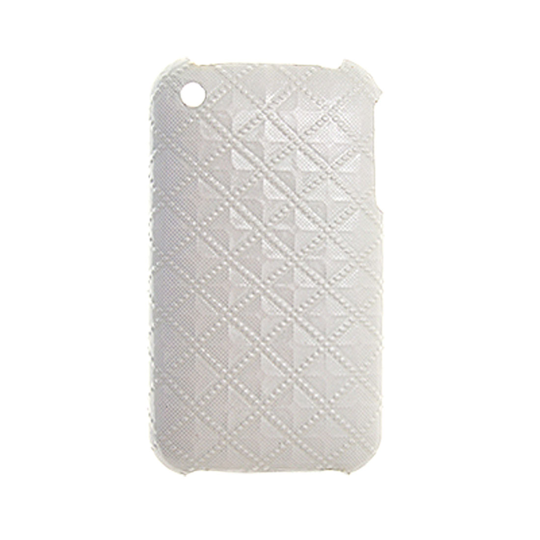 Plastic Lattice Style Back Case Cover for iPhone 3G White