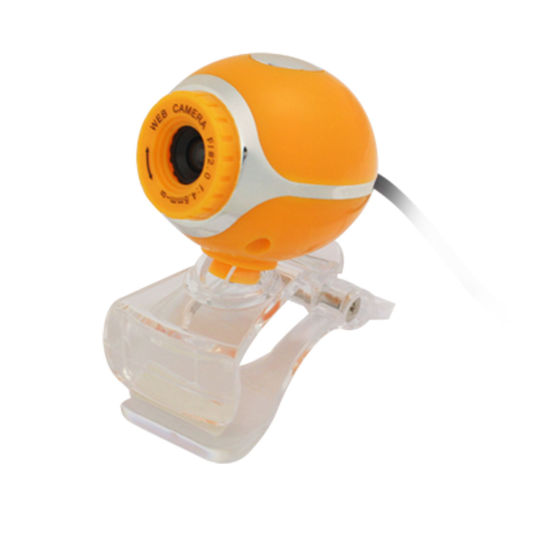 Mini Clip USB Webcam Video Camera Web Cam Orange for Laptop Notebook