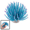 Lifelike Blue Silicone Sea Anemone Aquarium Tank Decoration