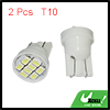 2 Pcs Car White 8 1210 LED T10 194 168 W5W Wedge Lamp Light internal