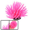 Hot Pink Aquarium Fish Tank Silicone Sea Anemone Ornament Decor