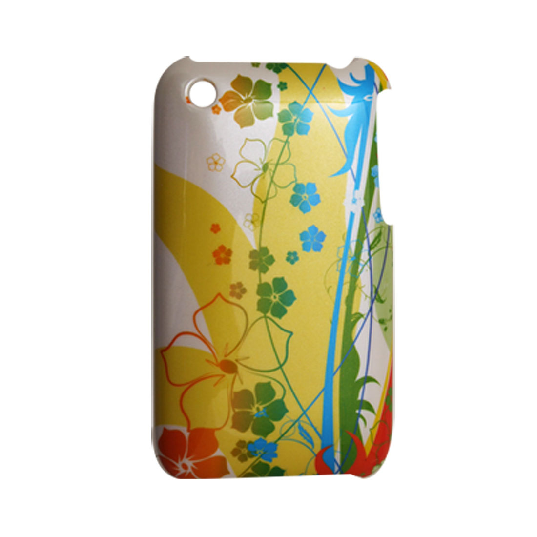Flower Print Hard Plastic Case Protector for Apple iPhone 3G
