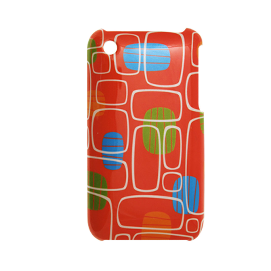 Orange Hard Plastic Case Protector w Patterns for Apple iPhone 3G