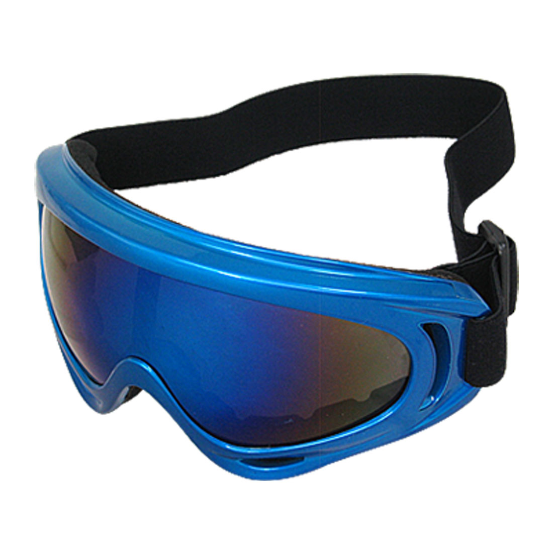 Big Lens Blue Frame Skiing Goggle Racing Snowboard Sports Glasses