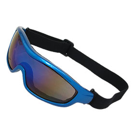 Blue Plastic Frame Skiing Sports Snowboard Goggle Racing Glasses