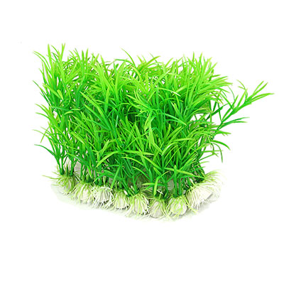 10 Pcs Life-like Aquarium Plastic Plants Green for Fish Tank