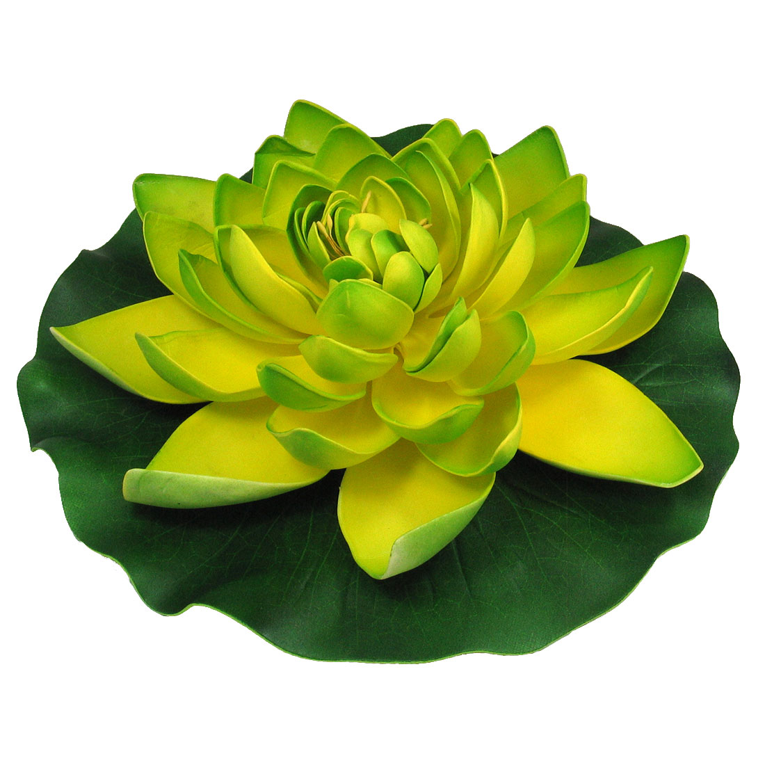 Aquarium Fish Tank Foam Artificial Floating Foam Lotus Landscaping Green Yellow