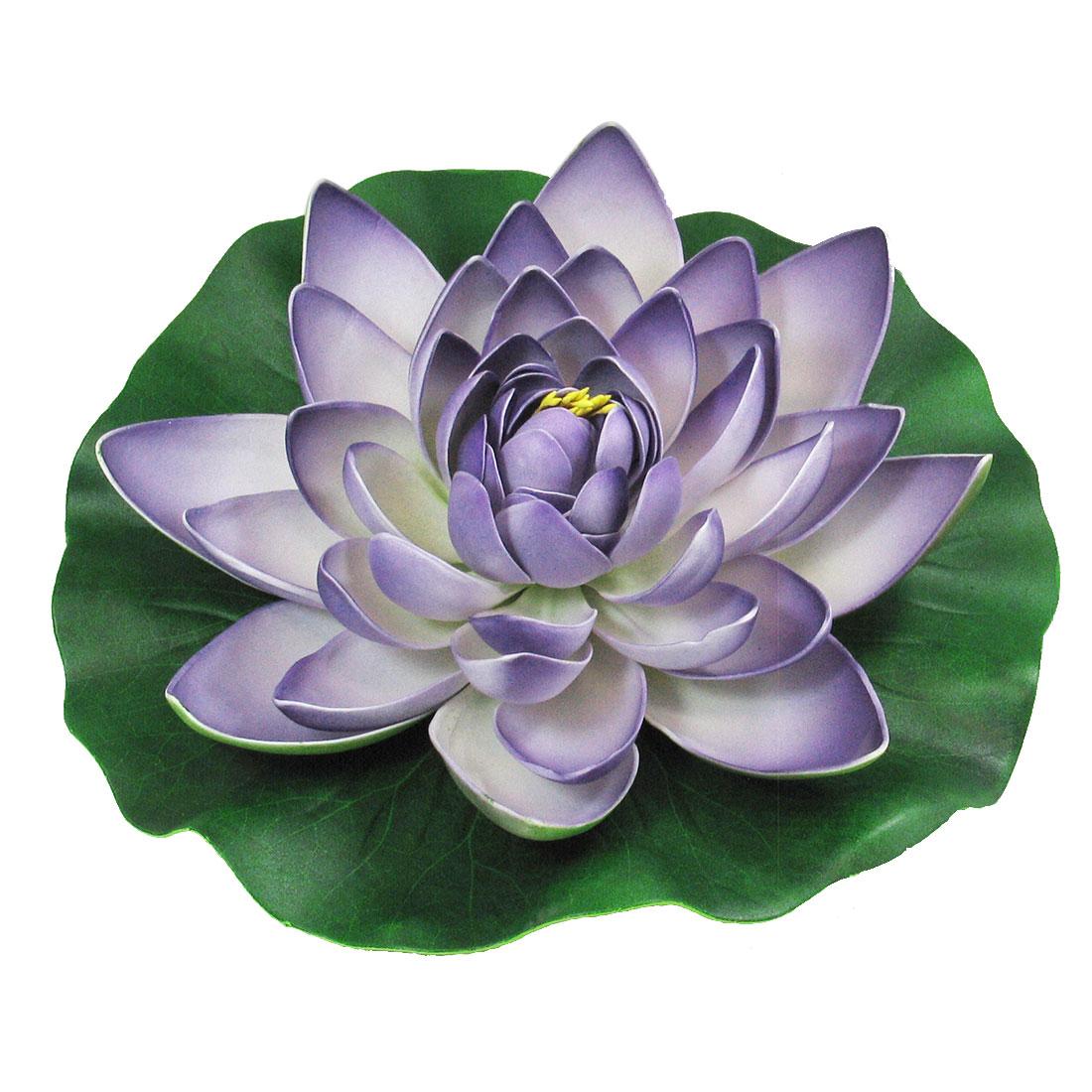 Purple Foam Floating Lotus Aquarium Pond Tank Ornament