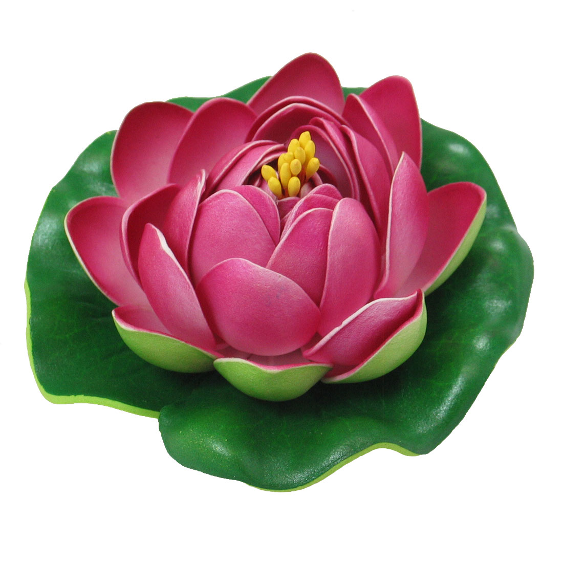 Floating Foam Lotus Aquarium Fish Tank Hot Pink Ornament