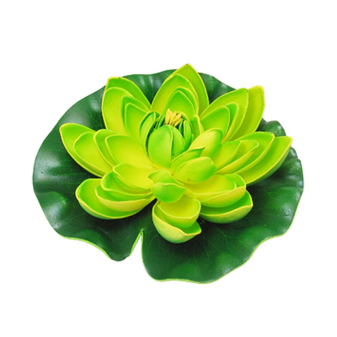 Green Yellow Decoration Floating Lotus for Aquarium Fish Tank