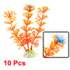 10 x Aquarium Plastic Artificial Plants Fish Tank Decor