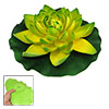 Green Yellow Water Floating Foam Lotus for Garden Pond