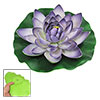 Purple Foam Floating Lotus Aquarium Pond Tank Ornament