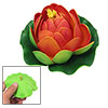 Red Green Plant Aquarium Fish Tank Foam Lotus Flower