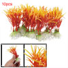 10pcs Plastic Ornament Orange Plants for Fish Tank