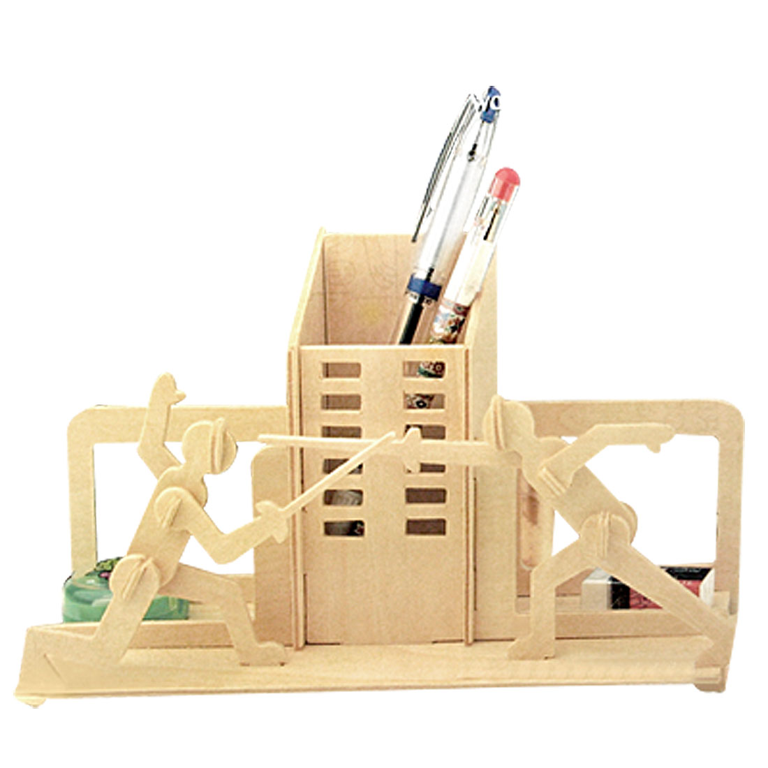 Fencing DIY Pen Holder Container Woodcraft Construction Kit