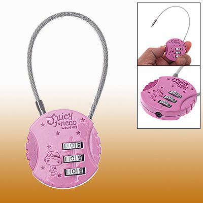 Portable Cable Mini Case Resettable Combination Padlock